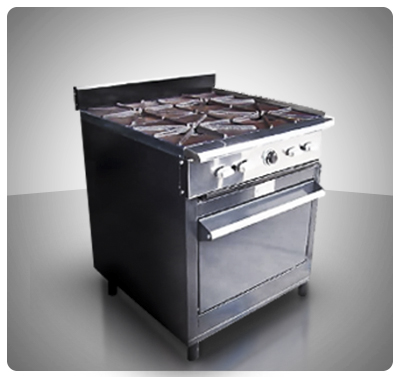 "Cocina Industrial Pesada 4 hornillas y Horno ""Horven"" Mod. 125-P"