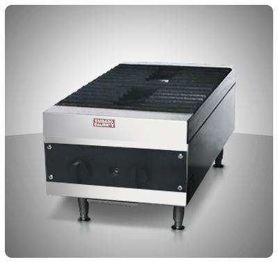 """Cocina industrial a Gas (Sobre Tope) 2 hornillas """"E.M"""" Mod. C2GM"""