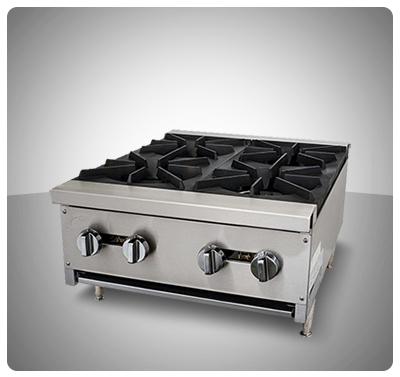 """Cocina Industrial a Gas (Sobre Tope) 4 hornillas """"Iboia"""" Mod. COC-4S"""