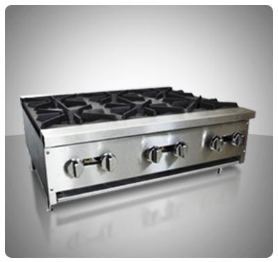 """Cocina Industrial a Gas (Sobre Tope) 6 hornillas """"Iboia"""" Mod. COC-6S"""