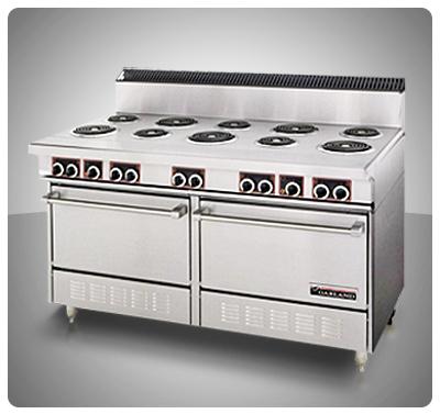 """Cocina Industrial (Eléctrica) 10 Placas y 2 Hornos """"Garland"""" Usa  Mod. SS-684"""