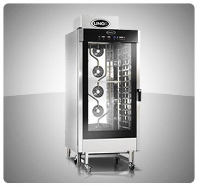 """Horno Convección a Gas - Panadería / Pastelería """"Unox"""" Italia – Modelo Baker-Top (con Vapor) Mod. XBCE-1605GAL"""