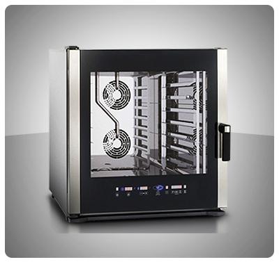 """Horno Convección Eléctrico Panadería Pastelería """"Unox"""" Italia – Modelo Baker-Lux (con Vapor) Mod. XBCE-605E"""