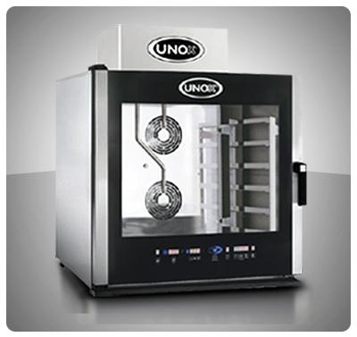 """Horno Convección a Gas - Panadería / Pastelería """"Unox"""" Italia – Modelo Baker-Top (con Vapor) Mod. XBCE-615G"""