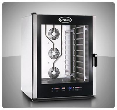 """Horno Convección Eléctrico Panadería Pastelería """"Unox"""" Italia – Modelo Baker-Lux (con Vapor) Mod. XBCE-805E"""