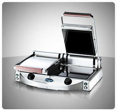 "Sandwichera Doble en Vitrocerámica  ""Unox"" Italia Mod. XP-020PR"