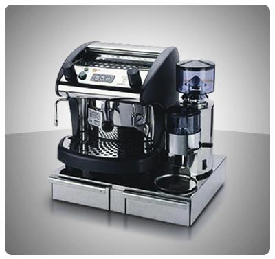 """COMBO PORTÁTIL ESPRESSO """"BEZZERA"""" Máquina Espresso Portátil - Mod. BZ02SP + Molino Café 1 Kg / hora – Mod. BB-004 + Mueble 2 Gavetas Acero Inox Mod. CAO480"""