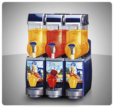 """Granizador y Enfriador de Bebidas (3 Tanques)  """"Cab"""" Italia - Doble Función Mod. FABY III"""