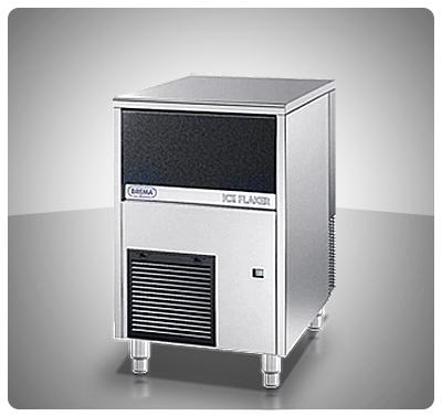 "Fabricador de Hielo 90 Kg (Granulado) Contenedor Incorporado  ""Brema"" Italia  Mod. GB-902"