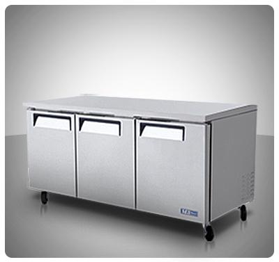 "Mesa de Trabajo Refrigerada (3 Puertas) ""Turbo Air"" usa Mod. MUR-72"