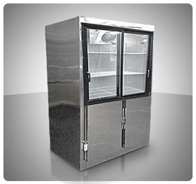 Nevera Vitrina Mixta 4 Puertas (Congelación / Conservación)  Mod. V4M-C