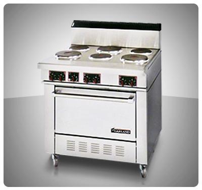 """Cocina Industrial (Eléctrica) 6 Placas y Horno  """"Garland"""" Usa  Mod. SS-686"""