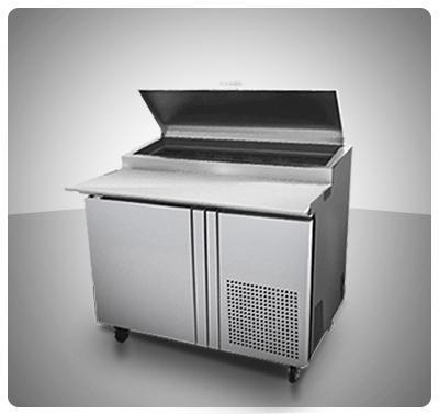 """Mesa para preparación de Pizzas (1 Puerta) """"Turbo Air"""" usa  Mod. TPR-44SD"""