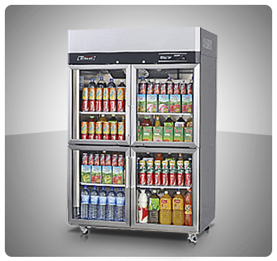 """Nevera Vitrina Refrigerada (4 Puertas – 45 Pies) """"TurboAir"""" Mod. KR45-4G"""