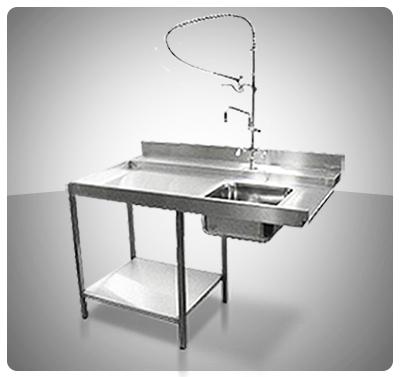 Mesas para Pre-Lavado  (Utilizable c/Lava Vajillas)