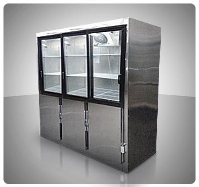 Nevera Vitrina Mixta 6 Puertas (Congelación / Conservación) Mod. V6M-C